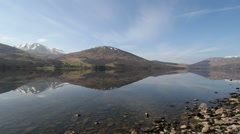 Ben Vorlich Reflected in Loch Earn St Fillans Scotland Stock Footage
