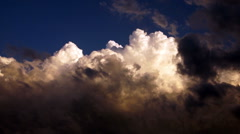 Dramatic Cloudscape Late Afternoon Sky Cumulonimbus Clouds Stock Footage