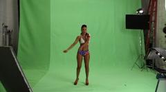 Sexy USA Bikini Stock Footage