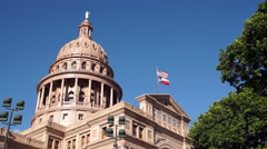 Capital Building Austin Texas Government Building Blue Skies Stock Footage