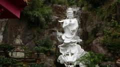 Statue of Guanyin riding Dragon, extremely powerful, enhancing the chi Stock Footage