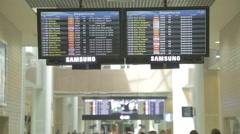 Santos Dumont Airport - Flights - Rio de Janeiro - Brazil Stock Footage