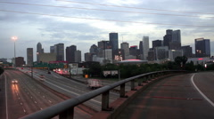 Houston Skyline Southern Texas Big City Downtown Metropolis Stock Footage