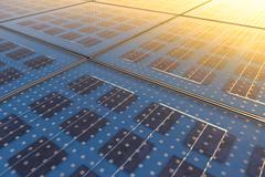 Solar Panel Texture Stock Photos