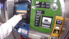 4k Buying metro ticket NY Stock Footage