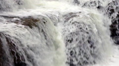 Waterfall Cascading Over Ledge, Lush Forest Waterfalls Stock Footage