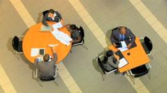 multi ethnic male female business financial stock advisor laptop technology - stock footage