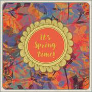 Vintage Spring - stock illustration