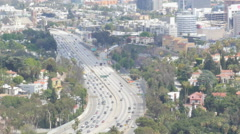 Hollywood Freeway Stock Footage