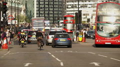 Typical London street traffic tele shot Stock Footage
