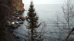 Split Rock Lighthouse Lake Superior Minnesota United States Stock Footage