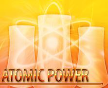 Atomic power Abstract concept digital illustration - stock illustration