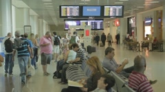 Santos Dumont Airport - Waiting - Rio de Janeiro - Brazi Stock Footage