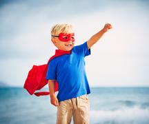 Super Hero Stock Photos