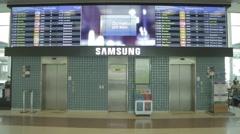 Santos Dumont Airport - Elevator -  Rio de Janeiro - Brazil Stock Footage