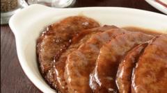 Salisbury steak - stock footage