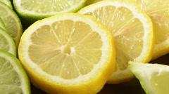 Lemons and limes Stock Footage