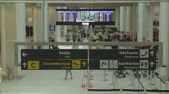 Santos Dumont Airport - Check in - Rio de Janeiro - Brazil Stock Footage