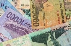 Background from Indonesian rupiah Stock Photos