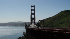 Time lapse from traffic at The Golden Gate Bridge in San Francisco Stock Footage