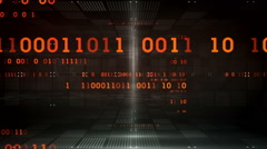 Binary Data Black Dolly Stock Footage