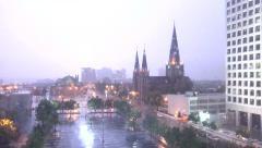 4K UHD ULTRA HD (Tulsa OK Lightning Storm 1b) Kulltech Stock Footage