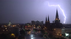 4K UHD ULTRA HD (Tulsa OK Lightning Storm 4) Kulltech Stock Footage