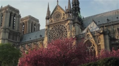 Paris - Notre Dame Cathedral 01 Stock Footage