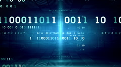 Binary Data Blue Dolly Stock Footage