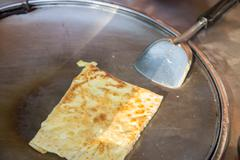 Crispy flat bread or roti Stock Photos