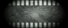 Dark grunge filmstrip abstract background - stock illustration