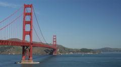 The Golden Gate Bridge in San Francisco Stock Footage
