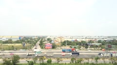 Timelapse of airport city link of Bangkok Stock Footage