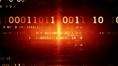 Binary Data Red Dolly Stock Footage
