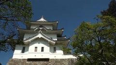 The original Ninja castle of Iga Ueno Stock Footage