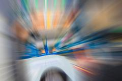Green,blue and orange color motion blur abstract Stock Illustration