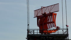 Radar Equipment at Commercial Airport Stock Footage