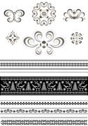 Stock Illustration of Ornaments and borders for page design