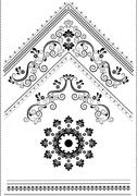 Decorative corner with an ornament for the page Stock Illustration