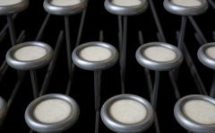 Vintage Typewriter Blank Keys - stock illustration