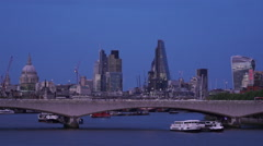 London skyline with St.Pauls cathedral in the evening - stock footage