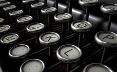 Vintage Typewriter Keys Close Up - stock illustration