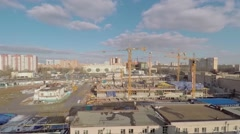 Construction site of new residential complex Nasledie - stock footage