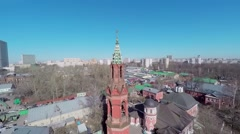 Cityscape with Preobrazhenskaya Old Believer community - stock footage