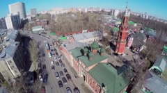 Street traffic near Preobrazhenskaya Old Believer community - stock footage