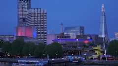 National Theatre and Festival pier London - stock footage