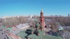 Preobrazhenskaya Old Believer community with Nikolskiy Monastery - stock footage