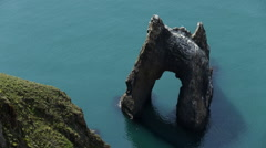 Seascape With View on Stone Arch in Water - stock footage