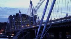 The Golden Jubilee Bridge London - stock footage