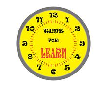 Time for learn - stock illustration